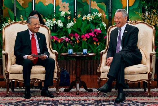 Malaysia PM Mahathir Mohamad Visits Singapore PM Lee Hsien Loong