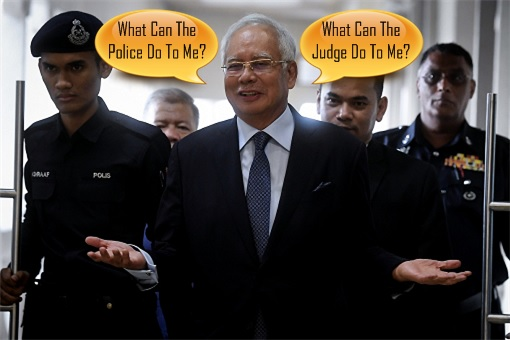 Najib Razak - Mock and Insult Judge and Police