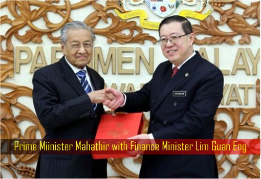 Prime Miinister Mahathir with Finance Minister Lim Guan Eng