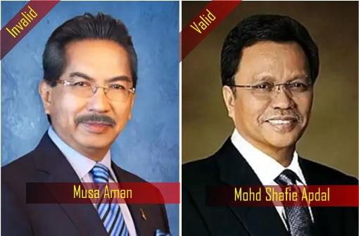 Sabah Chief Minister - Musa Aman - Shafie Apdal - Valid - Invalid