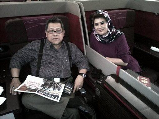 Speaker Pandikar Aman Mulia with Wife - Business First Class Flight