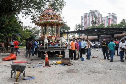 Subang Jaya Sri Maha Marianmman Temple Riot - Chariot Damaged
