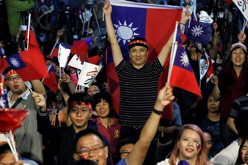 Taiwan Election 2018 - KMT Kuomintang Supporters