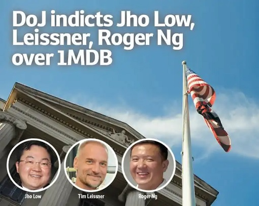 US DOJ Indicts Jho Low, Tim Leissner, Roger Ng