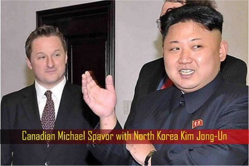 Canadian Michael Spavor with North Korea Kim Jong-Un