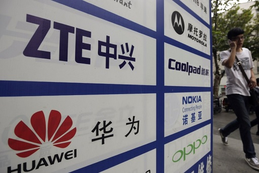 China Huawei and ZTE - Signboards