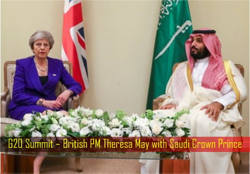 G20 Summit – British PM Theresa May with Saudi Crown Prince