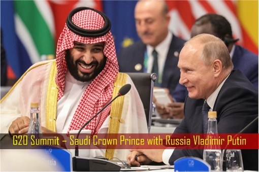 G20 Summit – Saudi Crown Prince with Russia Vladimir Putin