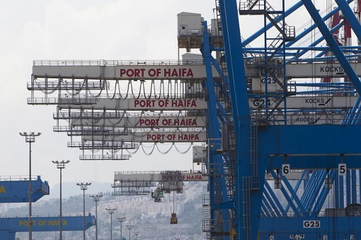 Israel Haifa Port - Crane