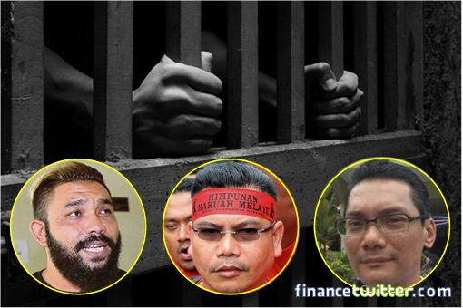 Lock Them Up - UMNO Gangster Jailed - Papagomo, Jamal, Azwanddin
