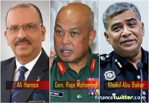 NSC National Security Council - Ali Hamsa, General Raja Mohamed Affandi, Khalid Abu Bakar