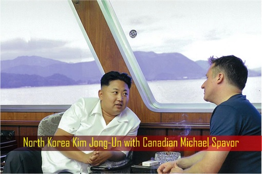 North Korea Kim Jong-Un with Canadian Michael Spavor