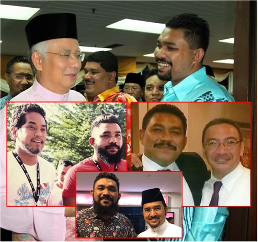 Papagomo - Wan Muhammad Azri Wan Deris - UMNO - with Najib Razak, Khairy, Hishammuddin, Asyraf