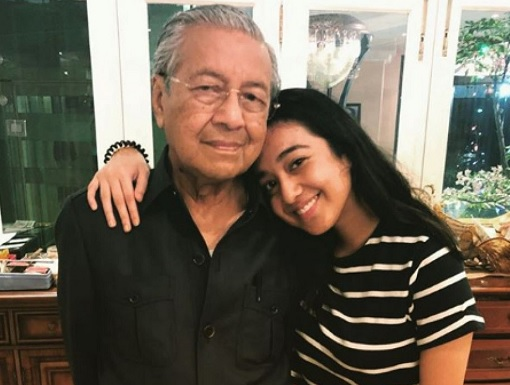 Prime Minister Mahathir Mohamad and Granddaughter Melia Serena Mukhriz