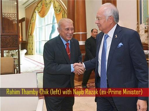 Rahim Thamby Chik with Najib Razak