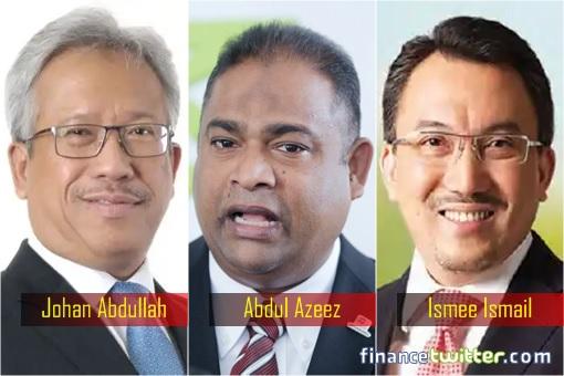 Tabung Haji - Johan Abdullah, Abdul Azeez, Ismee Ismail