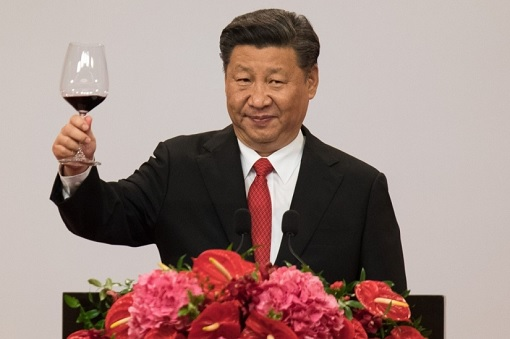 China President Xi Jinping - Toast a Drink