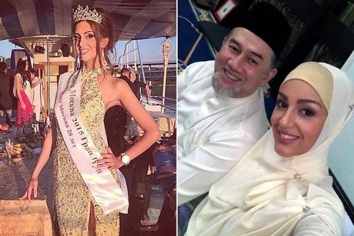 Malaysia King - Sultan Muhammad V - Married Miss Moscow Oksana Voevodina - Muslim