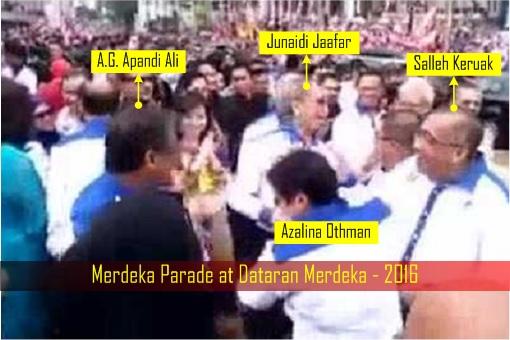 Merdeka Parade at Dataran Merdeka - 2016 - Apandi Ali with Ministers
