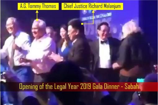 Opening of the Legal Year 2019 Gala Dinner - Sabah - Tommy Thomas and Richard Malanjum Dancing