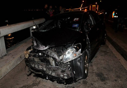 Penang Bridge Car Crash - Toyota Vios After High Impact Crash 2