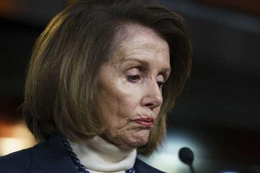Speaker Nancy Pelosi Overseas Trip Postponed - Sad Face Expression