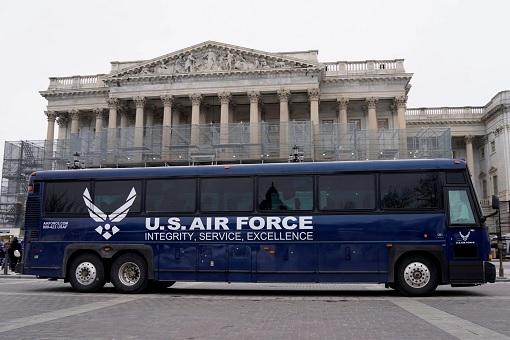 Speaker Nancy Pelosi Overseas Trip Postponed - USAF Bus