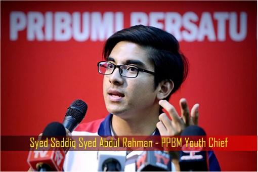 Syed Saddiq Syed Abdul Rahman - PPBM Youth Chief