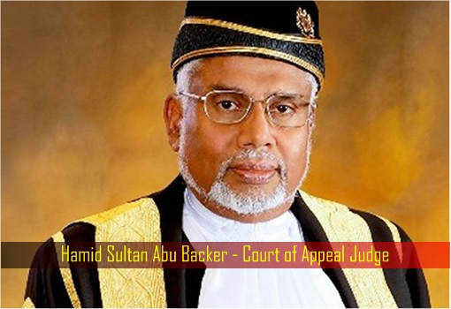 Hamid Sultan Abu Backer - Court of Appeal Judge