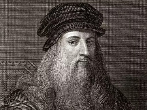 Leonardo da Vinci - Black White Painting