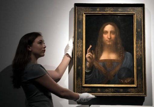 Leonardo da Vinci painting - Salvator Mundi - Auction