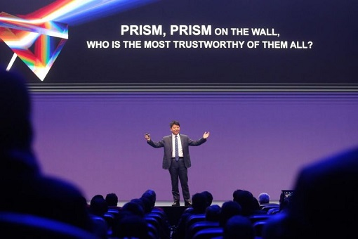MWC Barcelona - Huawei Trolls Mocks US - PRISM On The Wall