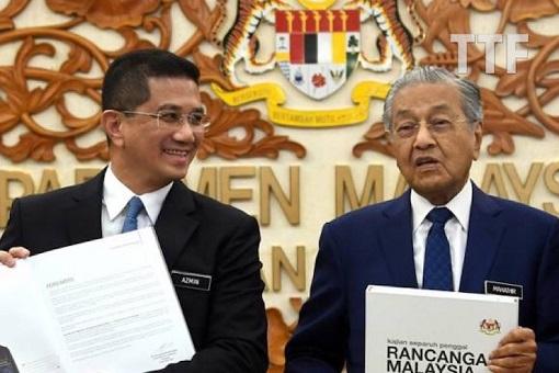 Azmin Ali and Mahathir Mohamad