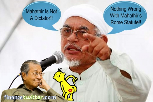 Hadi Awang Bootlicking Asslicking Mahathir Mohamad