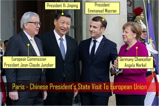 Paris - Chinese President State Visit To European Union