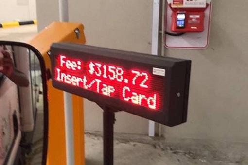 Jewel Car Park - Terminal 1 - Changi Airport - Parking Fees 3158.72 Singapore Dollar