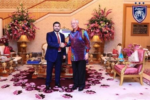 Johor Crown Prince with Najib Razak