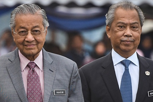 Mahathir Mohamad with Muhyiddin Yassin