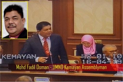 Mohd Fadil Osman - UMNO Kemayan Assemblyman