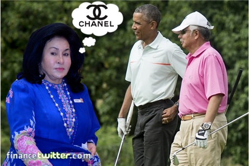 Najib Razak Golfs With Barack Obama - Rosmah Shopping Chanel - Hawaii
