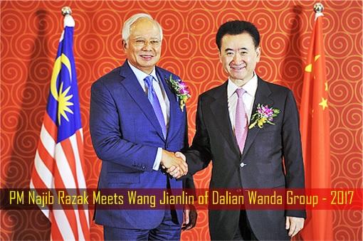 PM Najib Razak Meets Wang Jianlin of Dalian Wanda Group - 2017