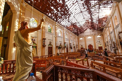 Sri Lanka Terror Attacks - Damaged Internal Church