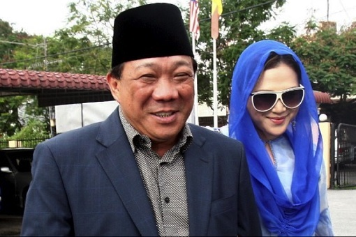 Bung Moktar Radin and his second wife actress Zizie Ezette A Samad