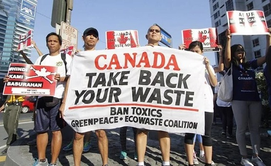 Canada Take Back Waste Garbage - Philippines Protesters