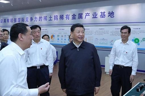 Chinese President Xi Jinping Visits Rare Earth Factory in Jiangxi China