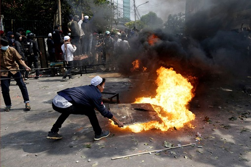 Indonesia 2019 Presidential Election - Riot - Fire