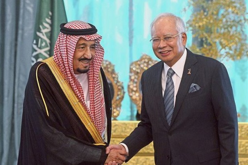 King Salman and Najib Razak