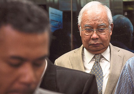 Najib Razak - 1MDB Scandal - Corruption and Money Laundering - Worried Face