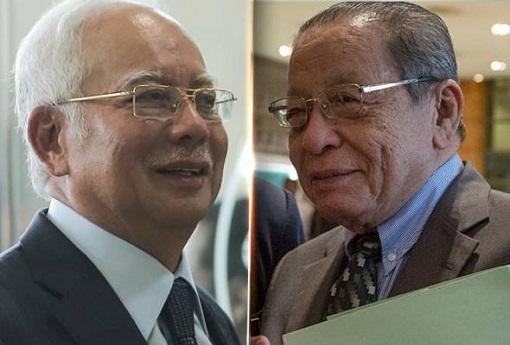 Najib Razak and Lim Kit Siang