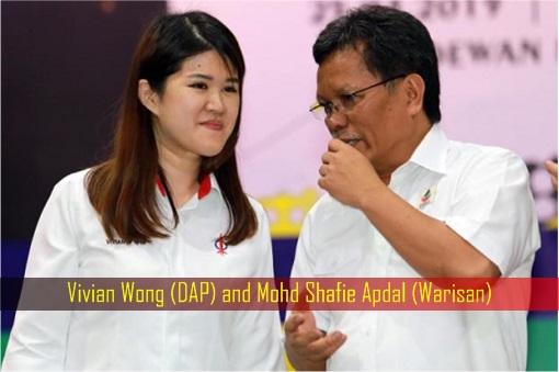 Sandakan Sabah By-Election - Vivian Wong DAP and Mohd Shafie Apdal Warisan